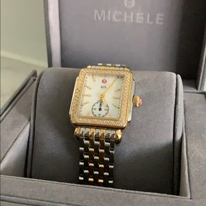 Michele Watch Deco two tone with Diamonds